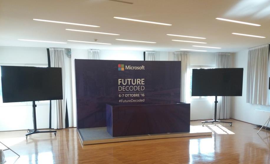 Stand Evento Microsoft palazzo del ghiaccio