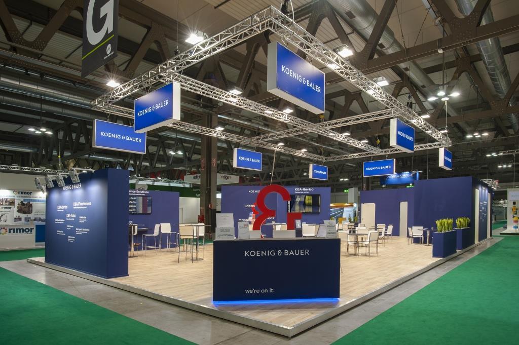Koenig & Bauer | Print4all - Milano: Stand personalizzato realizzato