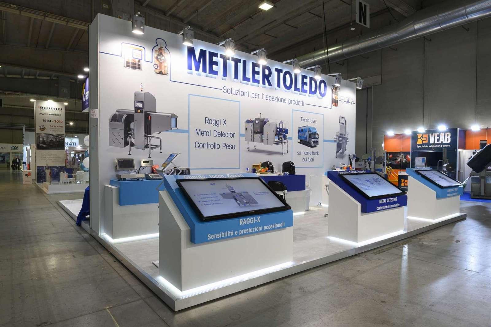 Stand personalizzato Mettler Toledo
